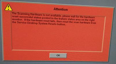 """维修日志:GE LIGHTSPEED 16排CT报错""""The Scanning Hardware not available"""""""